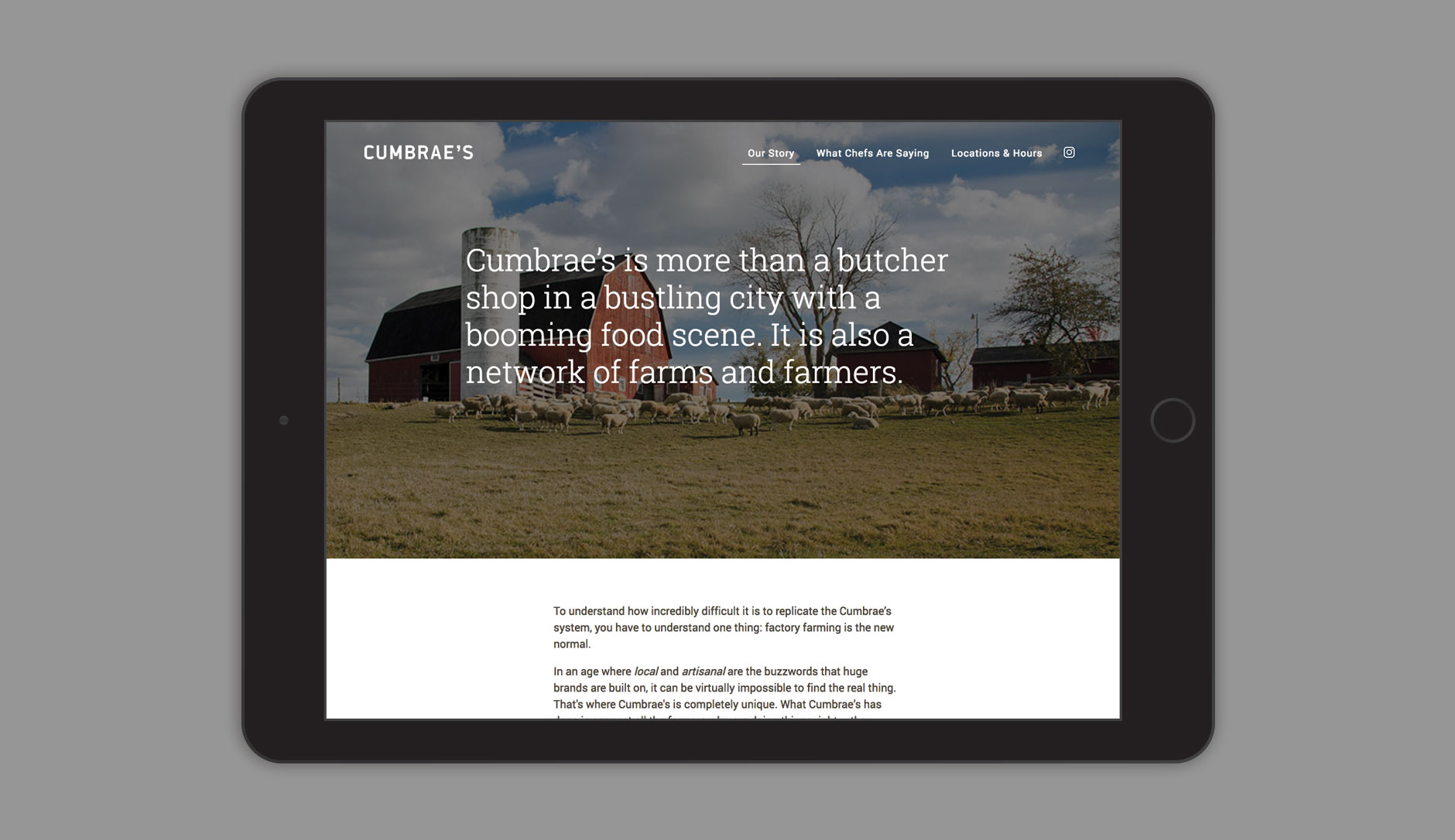 Cumbraes website our story