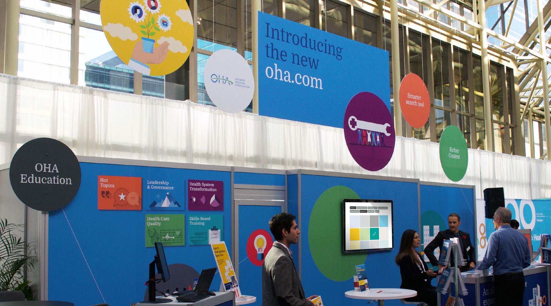 OHA web teaser campaign booth detail