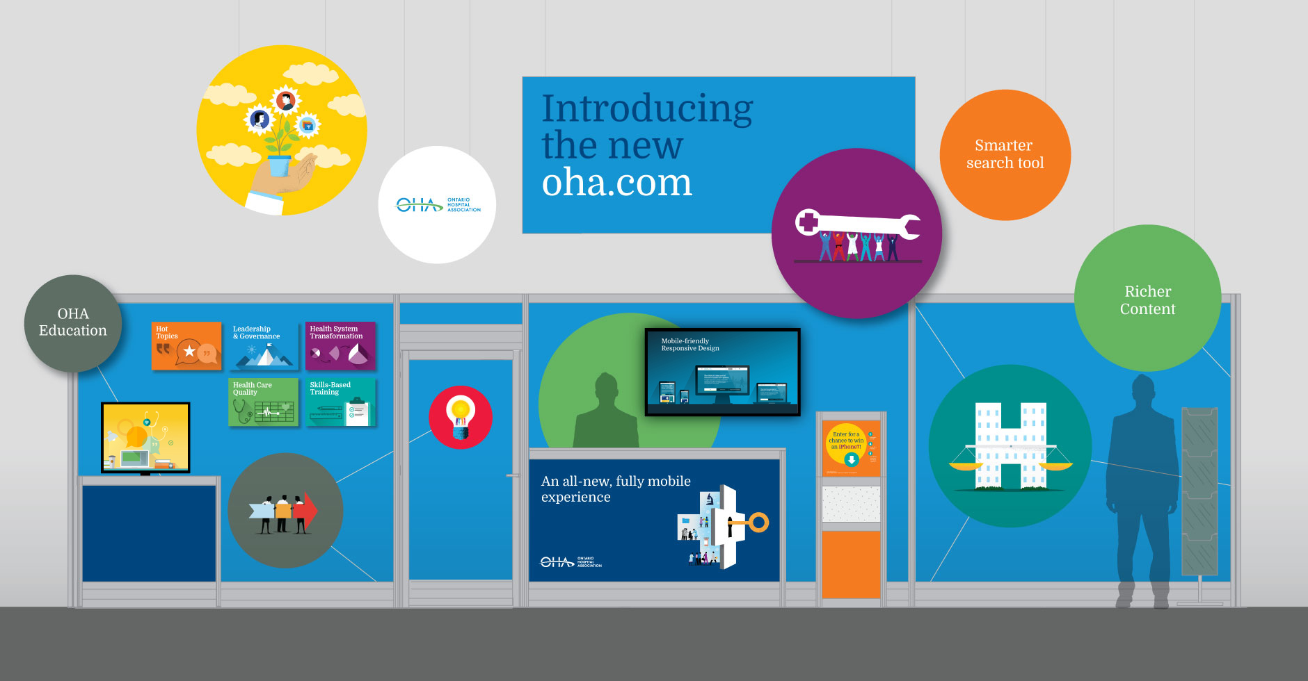 OHA web teaser campaign booth elevation