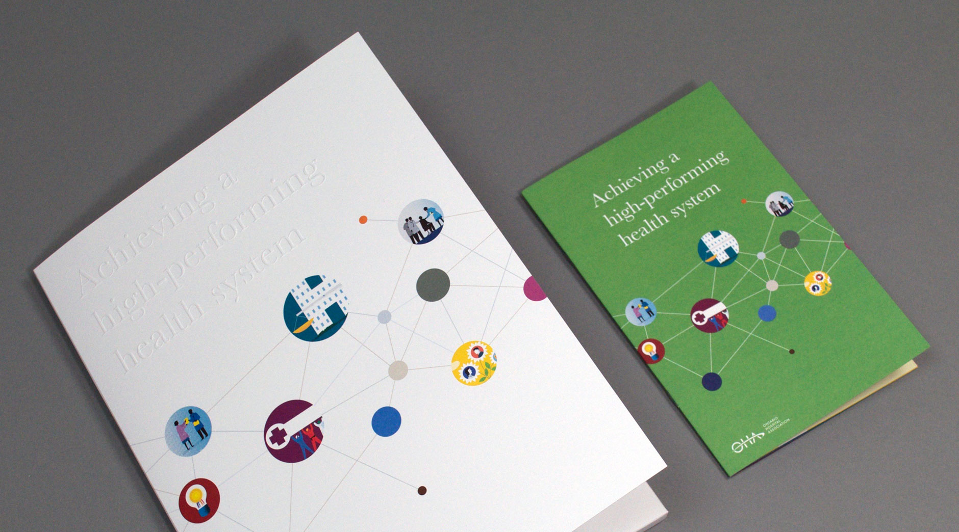 OHA web teaser campaign realated print material
