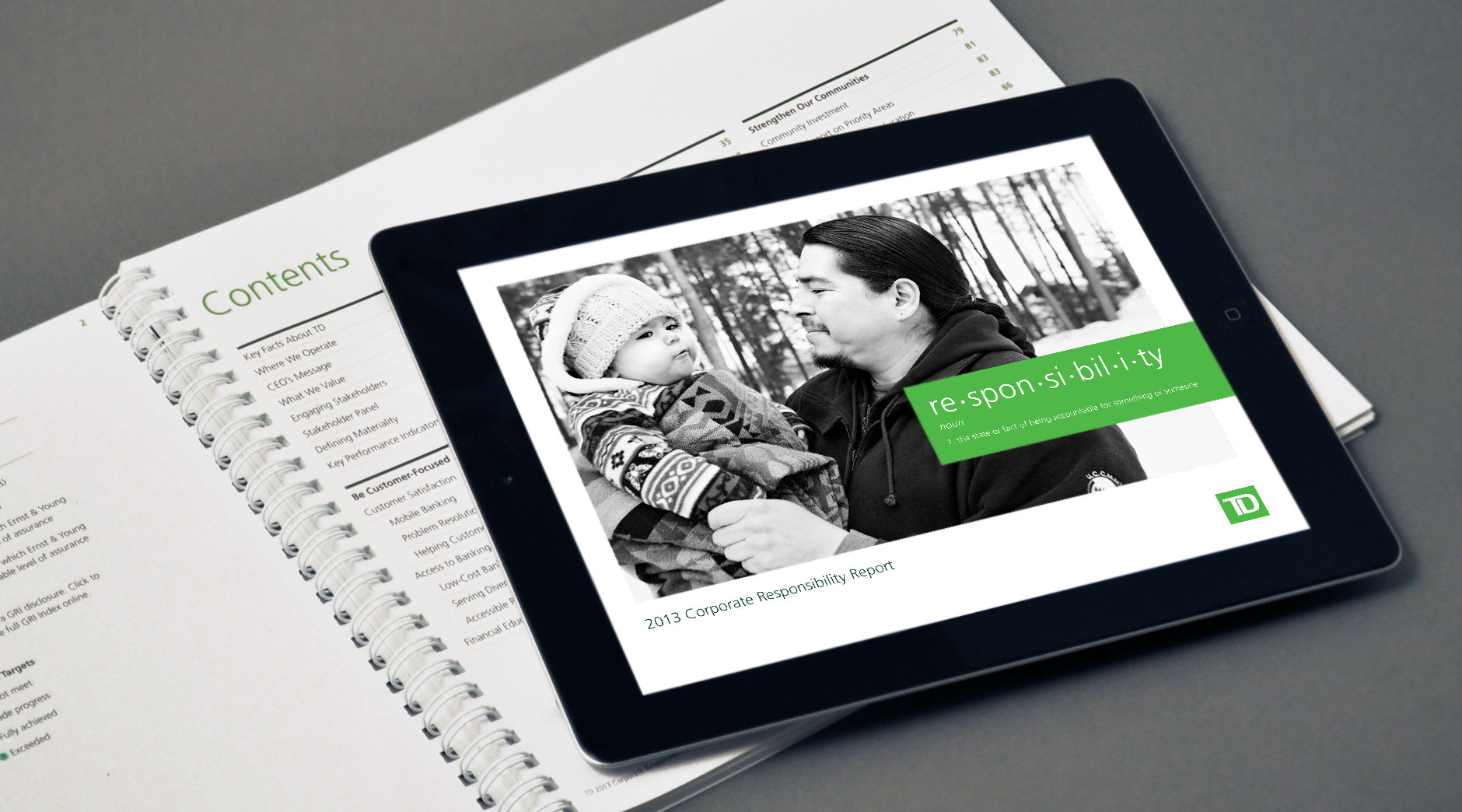 TD Corporate Responsibility tablet cover