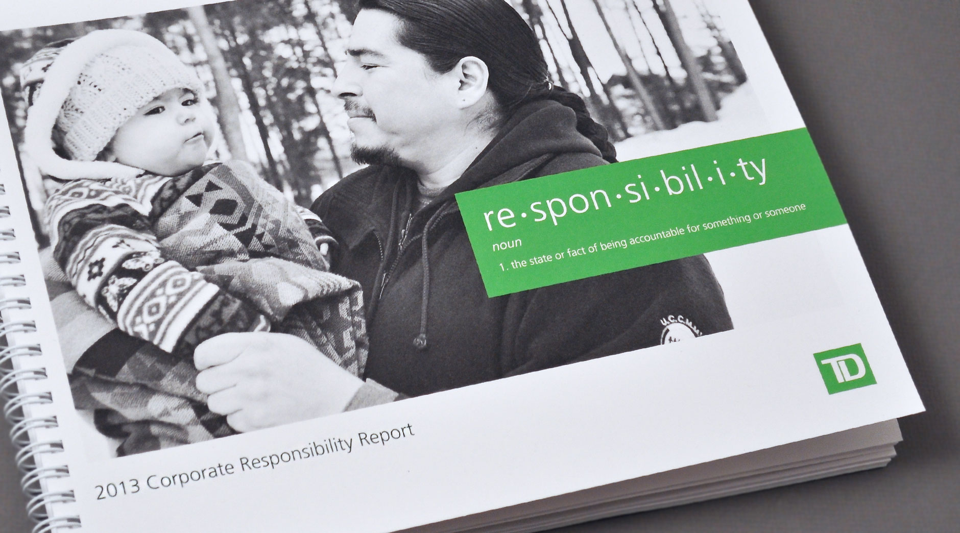 TD Corporate Responsibility print cover