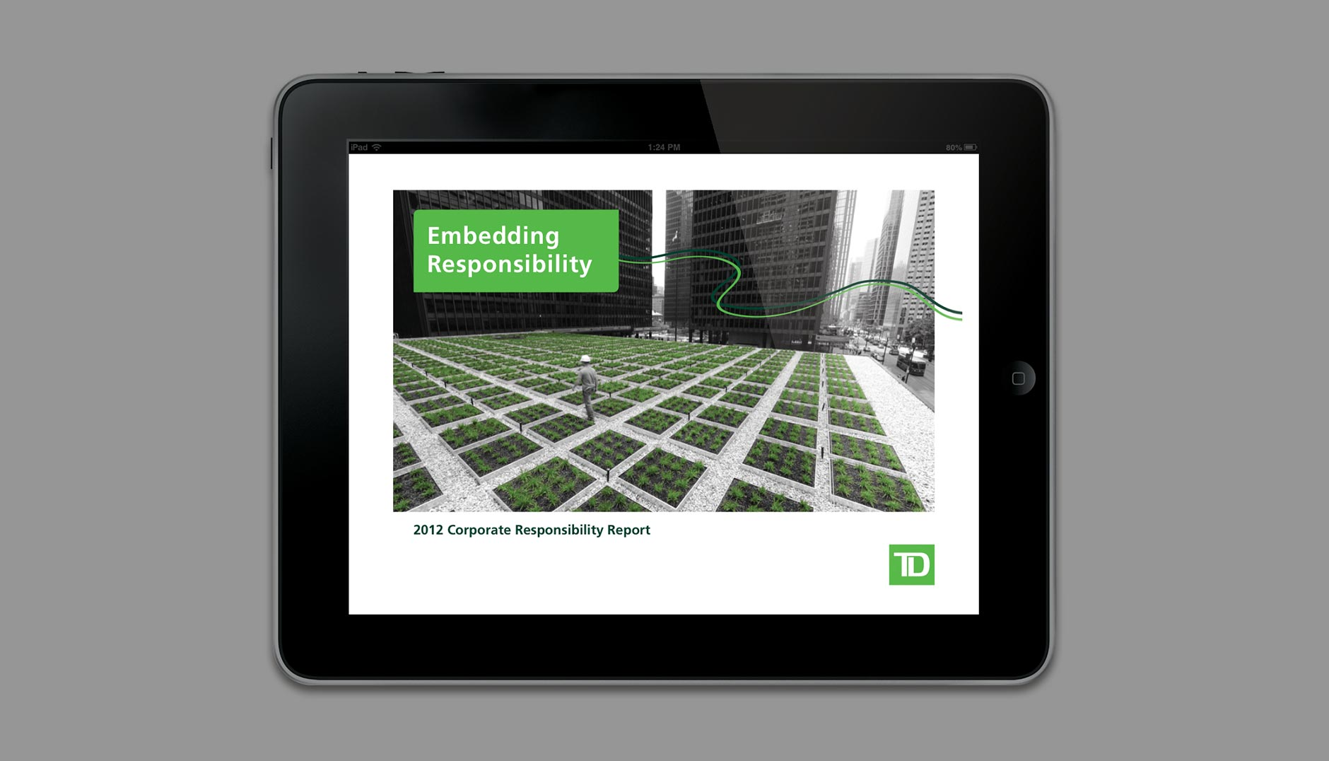 TD Corporate Responsibility Report online slide 1